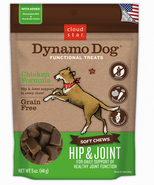 Cloud Star Dynamo Dog - Soft Chews - Hip & Joint - Chicken