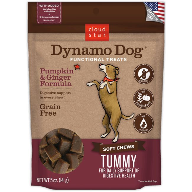 Cloud Star Dynamo Dog - Soft Chews - Tummy - with Pumpkin & Ginger