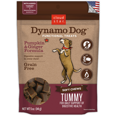 Cloud Star Dynamo Dog - Soft Chews - Tummy - Pumpkin & Ginger Grain Free