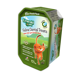 Emerald Pet Feline Dental Treats Catnip tub 11 oz