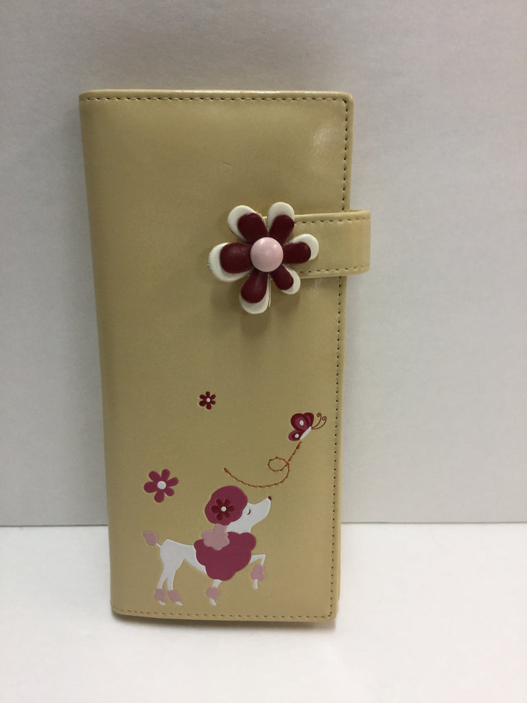 Espe - Cream Poodle Long Wallet