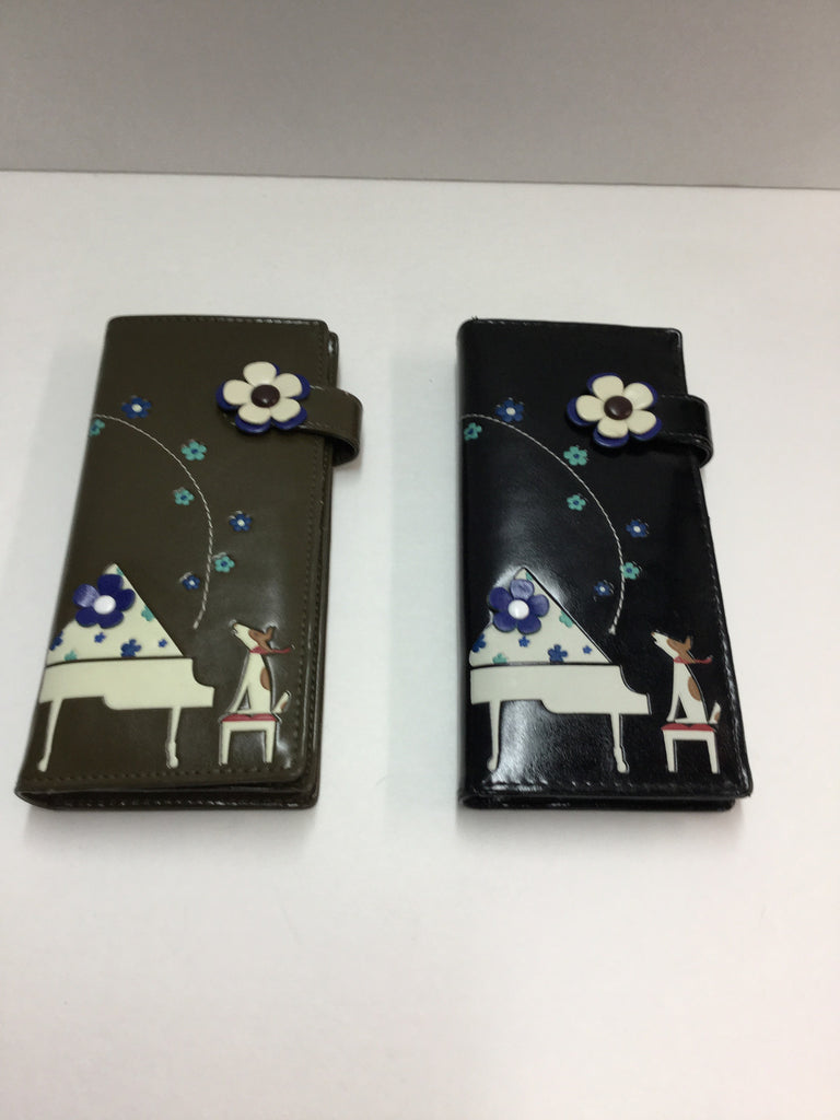Espe - Piano & Dog Long Wallets