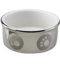 Ethical - Silver Paw Large Bowl