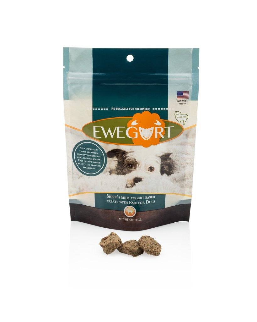 Ewegurt Freeze Dried Treats with Emu & Sheep's Milk