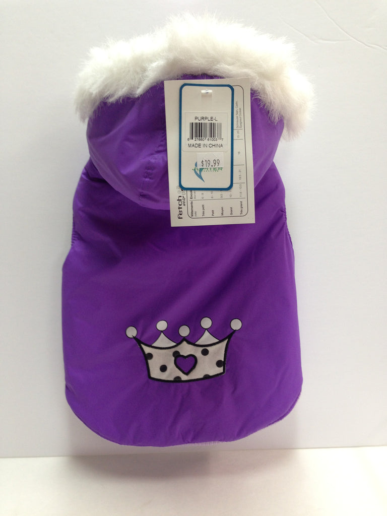 Fetchwear Purple Crown Coat SALE
