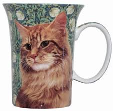 McIntosh Fine Bone China Mugs - Tabby Cat
