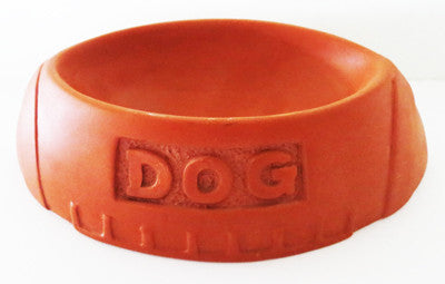 Football Shaped Dog Bowl