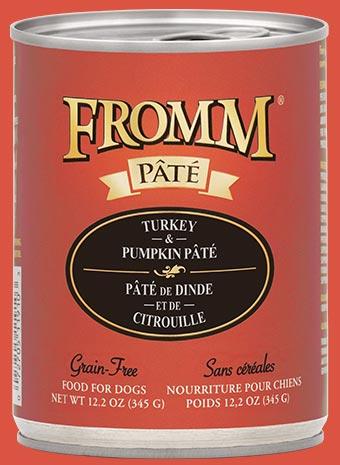 fromm grain free wet dog food turkey and pumpkin