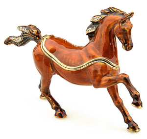 Little Treasures - Brown Galloping Horse