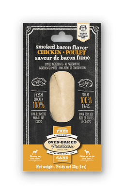 Oven-Baked Tradition - Smoked Bacon Chicken Fillets Dog Treats NEW