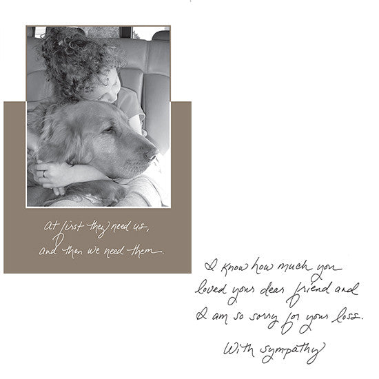 Dog Speak-Pet Sympathy Card