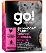 Go! Solutions Skin + Coat Care Minced Chicken Recipe for Cats 6.4 oz