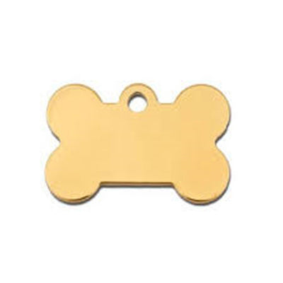 ID Tag - Large Gold Bone