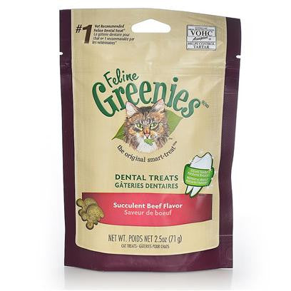 Greenies - Dental Treats Succulent Beef Flavor for Cats