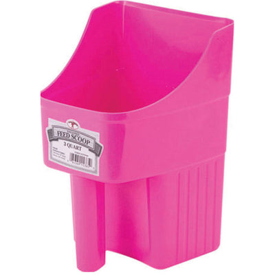 Little Giant Enclosed Feed Scoop 3 Quart (2.8 Liters) pink