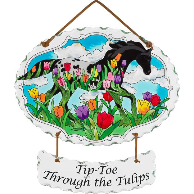 NPF - Suncatcher - Horse in Tulips