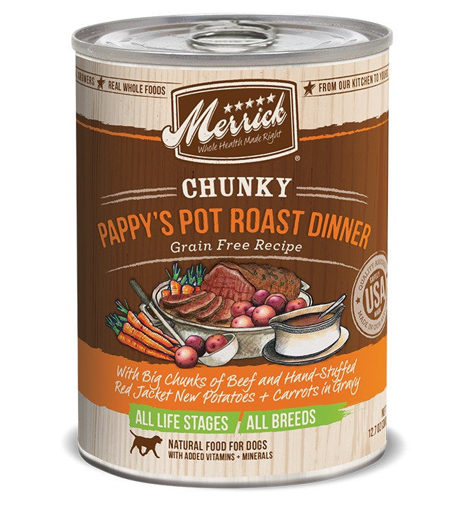 Merrick Canned Dog Food - Pappy's Pot Roast Dinner