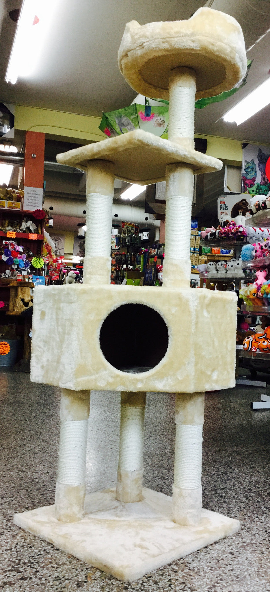 A.T. Cat Tree - Triple Decker 56""