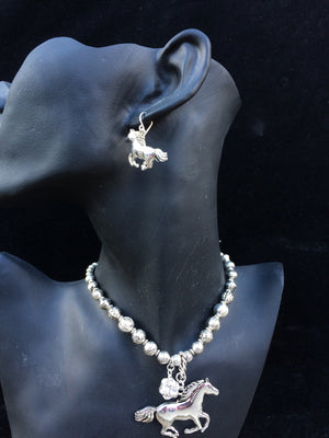 Chelsea - Horse Necklace and Earring Set