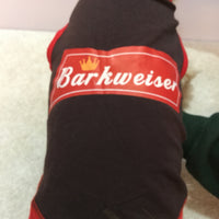 Dog t-shirt budweiser
