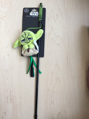 Silver Paw Star War Yoda Teaser Wand With Catnip