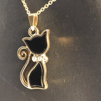 NPF Black Cat/Gold Necklace