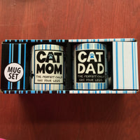 Our Name is Mud - Mug Set - Cat Mom & Dad