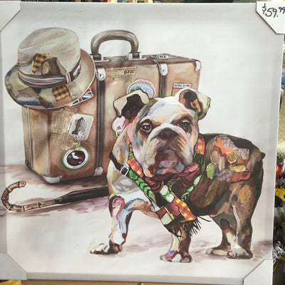 Art Travelling Bulldog