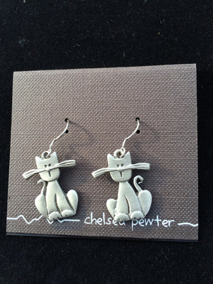 Chelsea - Carttoon Cat Earrings