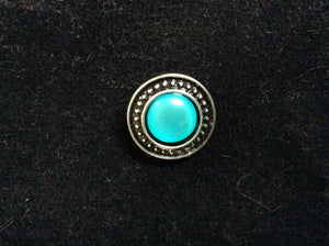 NPF - Snap - Silver with Turquoise Center