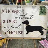 Art a home without a dog