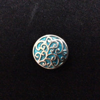 NPF - Snap - Turquoise Background with Silver Swirls