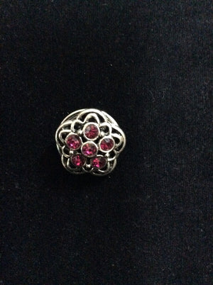 NPF - Snap - Silver and Sparkly Pink Flower