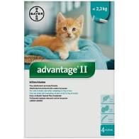 Advantage® II  Flea Protection for Kitten  2.3 kg - 4 Pack