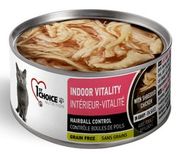 1st Choice Adult Cat Indoor Vitality Shredded Chicken 3 oz
