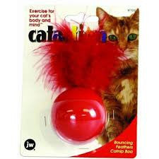 JW Cataction Bouncing feather Catnip Boa