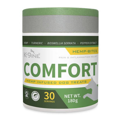 K9ine Comfort Hemp Infused Dog Treats 180 g, 30 bites