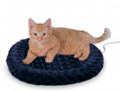 K&H Thermo Kitty Fashion Splash Bed - Dark Blue