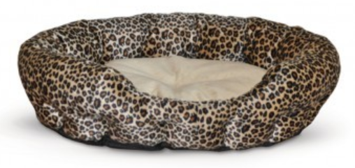 K&H Self-Warming Leopard Print Bed - Small