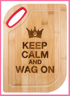 Bamboo Cutting Board - Keep Calm