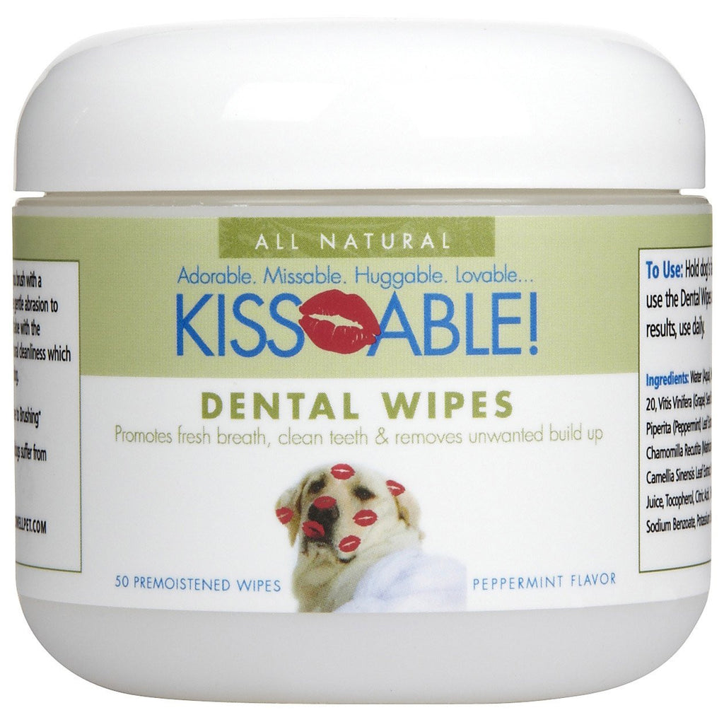 Kissable - 50 Dental Wipes - Peppermint Flavor