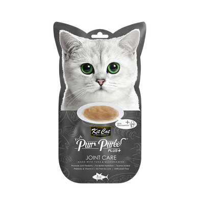 Kit Cat Purr Puree Plus+ Tuna & Glucosamine (Joint Care)  4 * 15 g Sachets