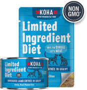 KOHA Shredded Lamb Entree in Gravy for cats 5.5 oz