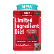 Koha LID Ingredient Diet Shredded Beef Pouch