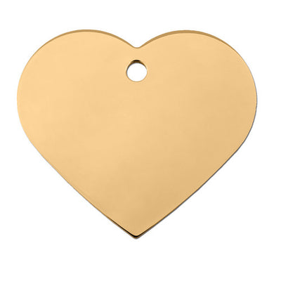 ID Tag - Large Gold Heart