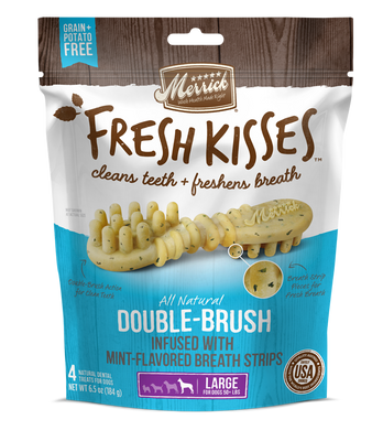 Merrick - Fresh Kisses - Infused with Mint Flavored Breath Strips - Large - SALE
