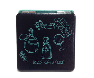 Compact Mirror - black and green
