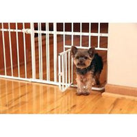 "Carlson Pet Products - Lil' Tuffy Expandable Gate with Small Pet Door 26""- 42"""