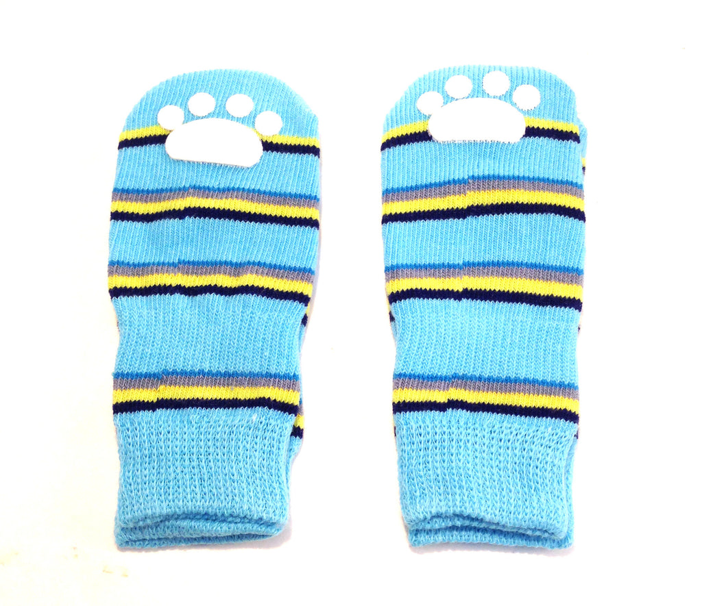 Lookin' Good Striped Slipper Socks - Blue -SALE