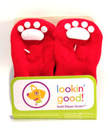 Lookin' Good Slipper Socks - Red